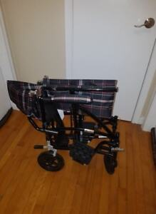 Transport Wheelchair  DRIVE Fly Lite Ultra Lightweight OBO