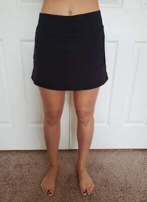 Lululemon Size 4 Pace Rival Skirt TALL Black BLK Tennis Run Speed NWT Swift