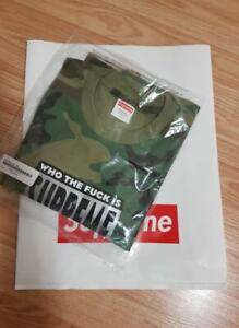 "Who The ""F"" is Supreme Woodland Camo Shirt Size Large SS19"