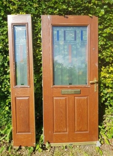 Wood External Doors With Side Panels on