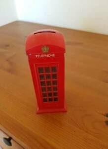 Cute UK England Telephone Booth - Piggy Bank / Coin Collector