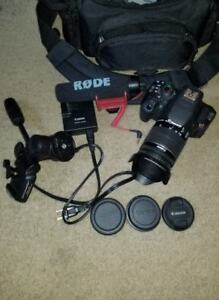 Canon Rebel t5i Digital camera with lots of accessories
