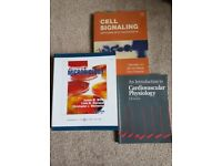 3 Scientific Textbooks Suitable for Biology and Human Biology Students (Good/Great Condition)