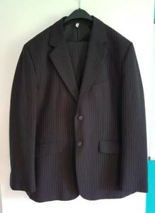 Black and white pin stripe suit from le Chateau