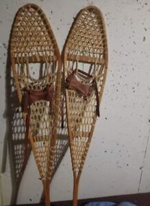 Beautiful rawhide Snowshoes