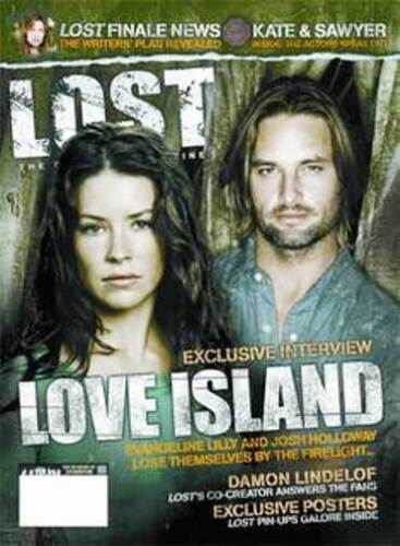 LOST OFFICAL MAGAZINE - KATE & SAWYER - JOSH HOLLOWAY & EVANGELINE LILY #10A
