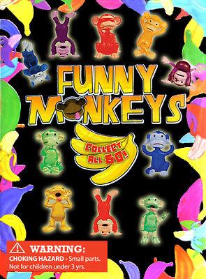250 Pcs Vending Machine 0.250.50 Capsule Toys - Funny Monkeys