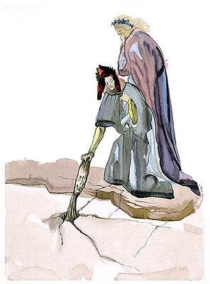 Salvador Dali, Divine Comedy, Inferno, Canto 33 (23): Punishment of Hypocrites