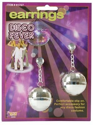 Disco Ball Fancy Dress Kostüm (DISCO BALL EARRINGS (1970S FANCY DRESS JEWELLERY))
