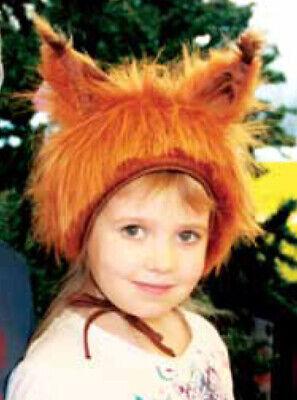 Eichhörnchen Squirrel Tier Faschingskostüm Mütze mit Ohren für Kinder Größe S/M - Eichhörnchen Kostüm Für Kind