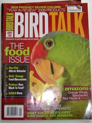 BIRD TALK MAGAZINE Jan 09 Amazon Diet Food What to Feed Parrot Alex African Grey