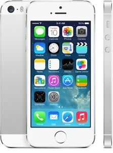 Silver iPhone 5S  16 GB MINT CONDITION in box
