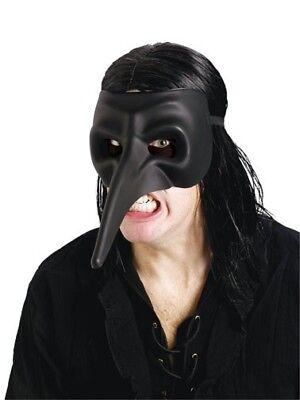 Erwachsene Maskerade Mardi Gras Schwarz Halbschuhe Rabe Lange Nase Maske Kostüm