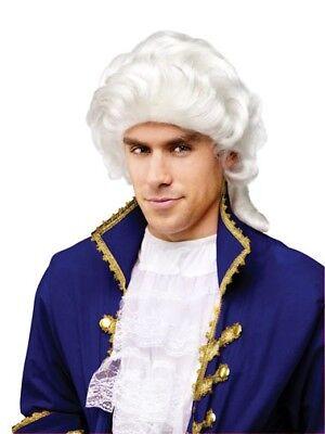 Erwachsene Größe George Washington 1700s Weiß Kolonial Perücke
