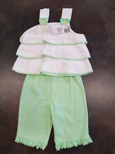 Girls Sears Baby 2 Piece Pant Outfit Size 12 Months