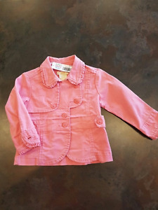 Girls Spring Jacket By Joe Fresh Size 6-12 Months