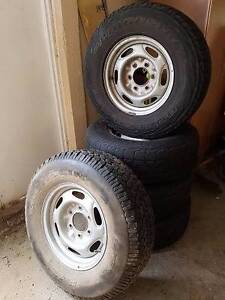 """5 X 15"""" Ford Ranger steel rims & tyres Tarragindi Brisbane South West Preview"""