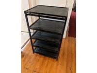 Target 5 shelf black metal Hi-Fi stand in excellent condition