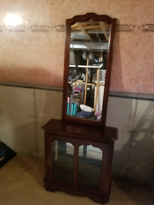 China Cabinet With Mirror