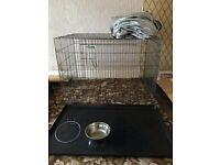 """Crufts 1105 large foldaway dog crate (43""""). Official Kennel Club Product"""