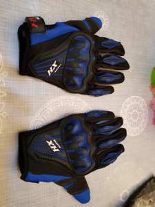 Motorcycle riding gloves with protection BLUE - NEW