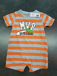 Boys Carters One Piece Short Outfit Size 12 Months