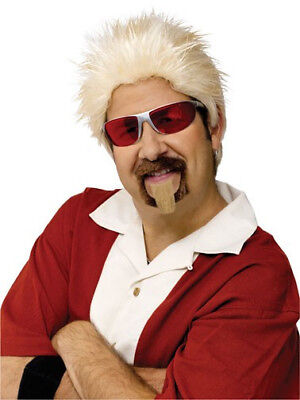 Guy Fieri Wig And Goatee Celebrity Chef Diners Drive Ins Dives Grocery Blonde](Guy Fieri Wig)