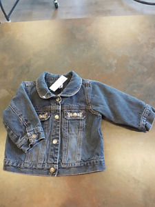 Childrens Place Girls Spring Jean Jacket Size 12 Months