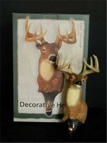 Whitetail Deer Decorative Hook Bust Coldcast Sculpture NOS Magnificent Antlers