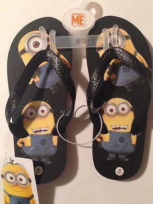 Nickelodeon DESPICABLE ME Flip Flops Minions Sz Medium 2/3 NWT