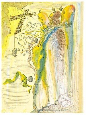 Salvador Dali Divine Comedy Woodcut, Paradise / Heaven Canto 15: Dante's Ecstasy