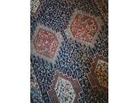Essie Antique Traditional Vintage Persian Rug 205 X 125cm Handwoven Carpet Glasgow Based