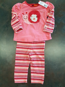 Girls Gagou Tagou 2 Piece Pant Outfit Size 6 Months