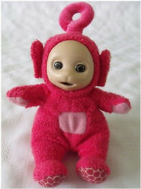My First Teletubbies Beanie soft toy - Po / Tummy squeaks when pushed