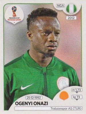PANINI STICKER FU BALL WM 2018 RUSSIA NR 342 OGENYI ONAZI NGA NIGERIA BILD NEU