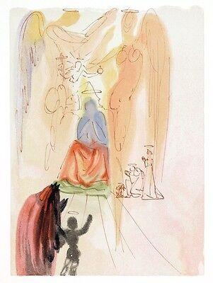 Salvador Dali Divine Comedy Original Wood Engraving Paradise / Heaven Canto 23