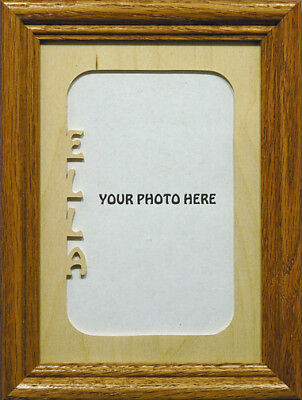 5x7 Vertical Cut Out Photo Mat w/ Frame - Personalized ()