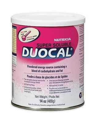 Duocal Super Soluble Powder, New Fresh Product, Nutricia 11826, 14 Ounce Can