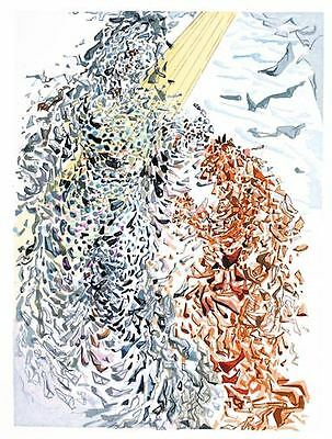 Salvador Dali Divine Comedy Woodcut, Paradise / Heaven Canto 14 (11): Opposition