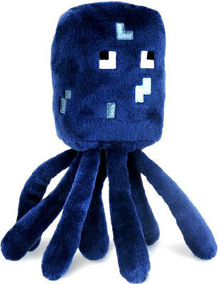 Minecraft Squid Plush Toy   New   Free Fast Usa Shipping