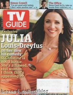 TV GUIDE - JULIA LOUIS-DREYFUS + LOST + THE CLOSER + ER + TRADING CARD