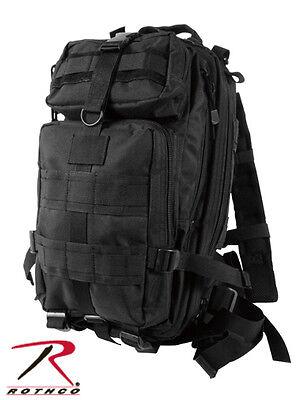 2287 Black Military Style Medium Transport MOLLE Assault Pack Bag Backpack