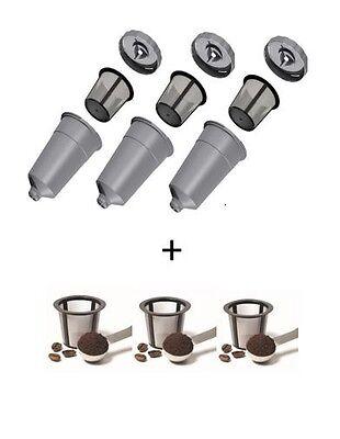 3-Pack My KCup Keurig Reusable Coffee Filter B40 B50 B60 PLUS 3  EXTRA Baskets! (Kcup Filter)