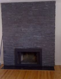 Bespoke stone hearth