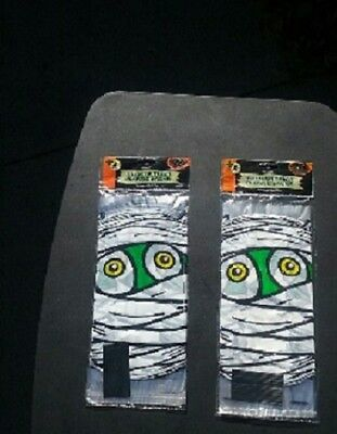 HALLOWEEN MUMMIES MUMMY PLASTIC CANDY TREAT BAGS TIES LOT 40 = 2 PACKS NEW VTG - Mummy Halloween Treats