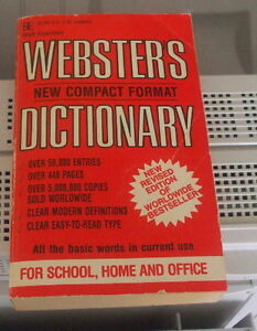 "Webster's new compact Dictionary ENGLISH ONLY ""vintage"""