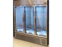 True GDM-72 SS 3 Door Stainless Steel Commercial Display Fridge