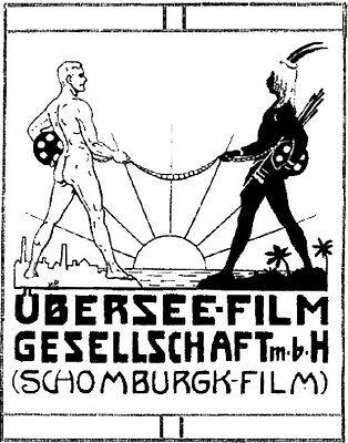 Übersee Film AG Berlin hist. Aktie 1923 Hans Schomburgk Afrika Querfurt Kino +Kp