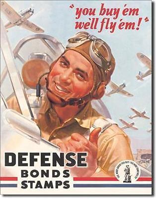 USA Army Airforce Defense Bonds Klassik USA Metall Deko Schild
