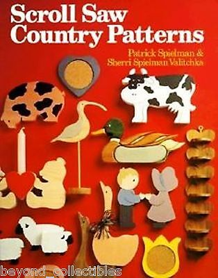 CRAFT BOOK - SCROLL SAW COUNTRY PATTERNS & INSTRUCTIONS - MI